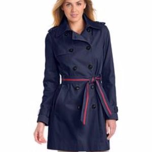 Tommy Hilfiger Navy Blue Women's Trench Coat
